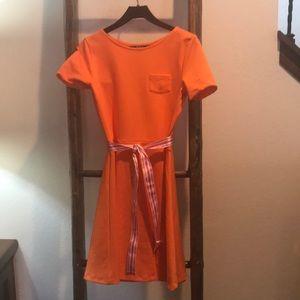 Girls Orange Ralph Lauren Dress